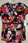 Koi scrubs 100% Cotton print scrub top NEW with tags! Kathryn FLORAL PUZZLE