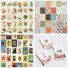 48pcs Paper Stamp Sticker Cards Decorative Diary Craft Scrapbook Labeling Paster