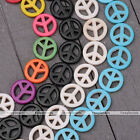 Howlite Turquoise Loose Beads Peace Sign Spacer Charms 10mm 15mm 20mm DIY Gift