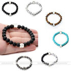 Cute Dog Cat Pet Paw Love Chakra Ball Bead Elastic Wristband Healing Bracelets