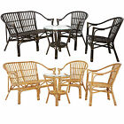 Milano 4pc Table And Chairs Set Rattan Dining Kitchen Coffee Sofa Seat Furniture