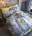 Times Square Designer Duvet Quilt Cover Set With Pillowcases, Single Double King