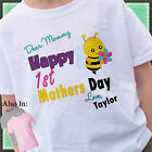Happy 1st Mothers Day Shirt with Cute Honey Bee - First Mothers Day Shirt