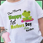Happy 1st Mothers Day Shirt with Cute Green Frog - First Mothers Day Shirt
