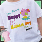 Happy 1st Mothers Day Shirt with Birdie In Puddle - First Mothers Day Shirt