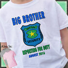 SHERIFF BIG BROTHER SHIRT ANNOUNCEMENT SHIRT PERSONALIZED NAME MONTH YEAR