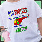 RED HELICOPTER BIG BROTHER SHIRT PERSONALIZED SHIRT PERSONALIZED NAME