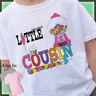 CANDYLAND CANDY LITTLE COUSIN SHIRT PERSONALIZED WITH NAME GUMBALL BIG SIS
