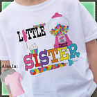 CANDYLAND CANDY LITTLE SISTER SHIRT PERSONALIZED WITH NAME GUMBALL BIG SIS