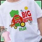 GREEN TRACTOR BIG BROTHER SHIRT PERSONALIZED WITH NAME FARMER BARN ANIMALS