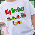 TRAIN BIG BROTHER SHIRT PERSONALIZED NAME MONTH YEAR ANNOUNCEMENT SHIRT