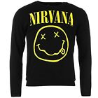 Official Mens Nirvana Sweatshirt Long Sleeve Crew Sweater Jumper Pullover Top