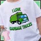 I LOVE GARBAGE TRUCKS SHIRT CUSTOMIZED TSHIRT PERSONALIZED TRASH TRUCK