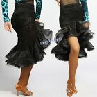 Women's Latin Fishtail Skirts Rumba Cha Cha Samba Cowboy Dance Ballroom Skirts