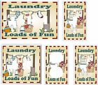 LAUNDRY LOADS OF FUN CLOTHES LINE WASHER LIGHT SWITCH COVER PLATE K1