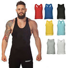 Men's Solid Tank Top Stringer Bodybuilding Fitness Muscle Vests Strong Tops TBUS
