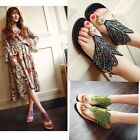 Hot Casual Women's Beach Summer Hollow Rhinestone Flip Flop Flat Sling Sandals