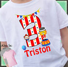 CIRCUS BIG TOP BIG NUMBER 2 SIDED BIRTHDAY SHIRT PERSONALIZED NAME AGE