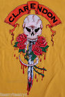 Authentic Clarendon New York Skull & Roses t-shirt Sleeve Logo Classic Cotton NW