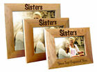 Personalised Sister Wooden Oak Landscape Photo Frame, Engraved Gift