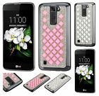 For LG K7 / Tribute 5 Premium Diamond Desire Back BLING Hard Case Phone Cover