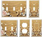 SEASHELL STAR FISH IN THE SAND  LIGHT SWITCH COVER PLATE K1