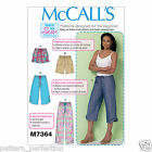 McCall's 7364 Sewing Pattern to MAKE Misses' Drawstring Shorts & Pants w/Pockets