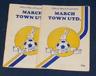 MARCH TOWN UNITED VARIOUS HOME PROGRAMMES 1989-1990