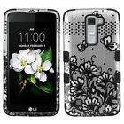 For LG Treasure LTE L52C IMPACT TUFF HYBRID Protector Case Phone Cover Accessory