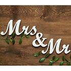 Mr&Mrs Wooden Letters Sign Freestanding Wedding Top Table Decor Photo Props - CB