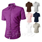 Mens Boys Luxury Casual Formal Dress Slim Fit Short Sleeve Polo T Shirt Fashion