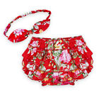 2pcs Baby Girl Headband+Shorts Pant Bloomer Diaper Cover Outfit Set Bottom 3-24M