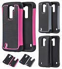 LG K10 Rubber IMPACT TRI HYBRID Case Protector Skin Phone Cover + Screen Guard