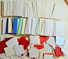100 Grams 75x51mm or 71x50mm or 40mm Sq Card Shapes  Asst Colours NEW
