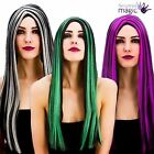 Ladies Long Straight Bewitched Wig Halloween Witch Fancy Dress Costume Accessory
