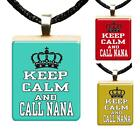 Keep Calm Call Nana Scrabble Tile Pendant Family Love Grandmother Jewelry Gift