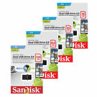 SanDisk 16GB 32GB 64GB 128GB OTG DUAL USB 3.0 Flash Pen Drive Chiavetta Stick IT
