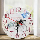 Vintage Wooden Wall Clock Antique Shabby Chic Rustic Kitchen Home Office