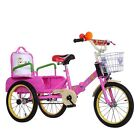 New Mother Kid Cruiser Bike Trike Safety Folding Bicycle Back Seat Tricycle