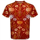 William Morris Rose and Lily T-Shirt Botonical Floral Tattoo Art