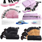 32pcs Vander Muticolor Soft Eyebrow Shadow Makeup Brush Set Kit + Pouch Bag USA