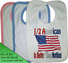 1/2 HALF American USA is better than nothing BIB Portugal nationality flag