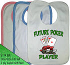 FUTURE POKER PLAYER BABY BIB FUTURE POKER STAR FULL HOUSE ROYAL FLUSH