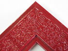 """2.3"""" Mayan Deep Cherry Red Solid Wood Canvas Picture Frame-Custom Square Size"""
