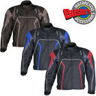 Motorcycle Mens Armoured Textile Waterproof Jacket CE Armour with Thermal Liner