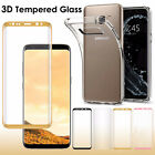 TPU Case + Full Cover Tempered Glass Screen Protective For Samsung S6 S7 edge
