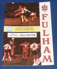 FULHAM VARIOUS HOME PROGRAMMES 1991-1992