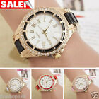 Hot Women's Stainless Steel Crystal Dial Band Analog Quartz Wrist Watch Bracelet