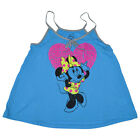 Disney Minnie Mouse Labels Junior Girls Loose Racerback Tank Top Shirt