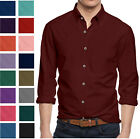Alta Men's Long Sleeve Button Down Cotton Slim Fit Pointed Collar Dress Shirt